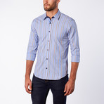 Stripe Button-Up // Navy (XL)