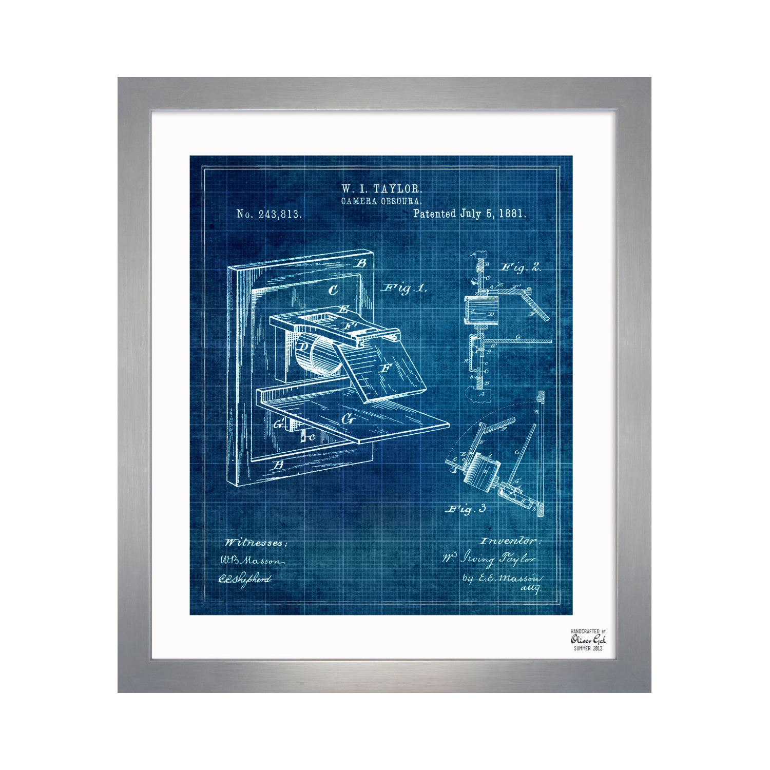 Camera Obscura 1881 10l X 12w Exclusive Framed Blueprints Diagram Touch Of Modern