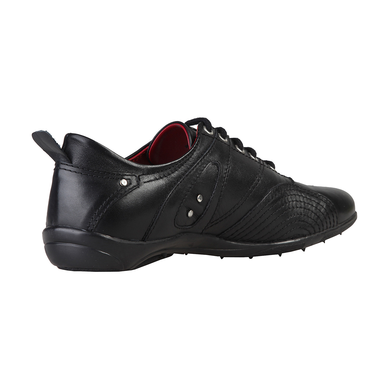 Leather Spiral Grip Lace-Up Sneaker // Black (Euro: 40 ...