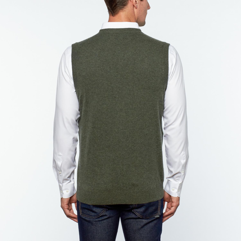 Gio Cashmere Sweater Vest // Khaki (S) - Silk and Cashmere Apparel ...