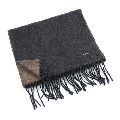 Patrick Double Scarf // Anthracite 355