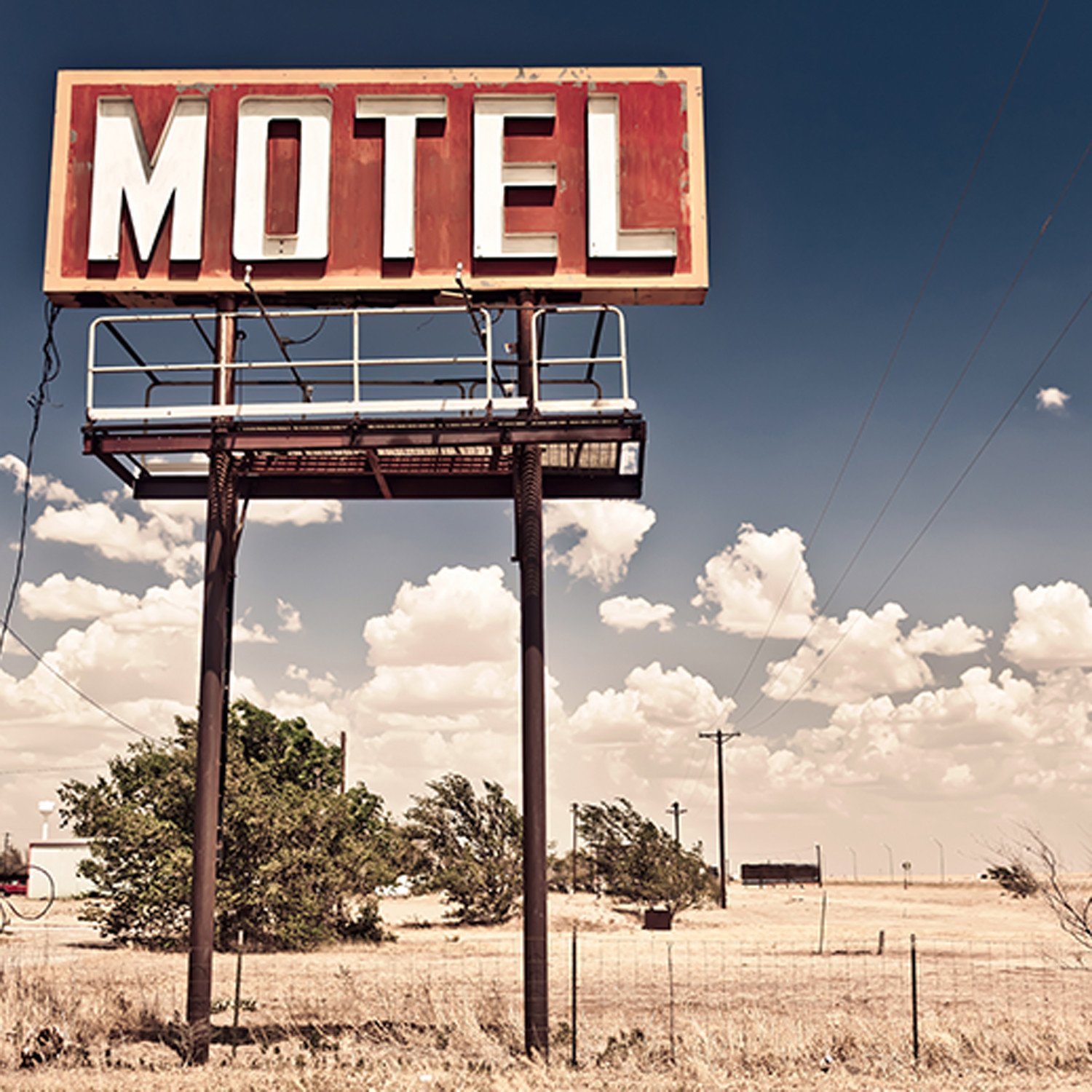 Vintage Motel Sign On Route 66