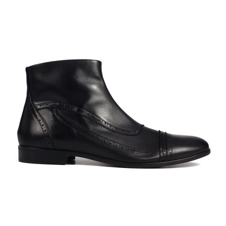 Brogue Ankle Boot // Black (Euro: 43)