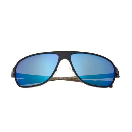 Atmosphere Sunglasses // Titanium (Black Frame + Blue Lens)