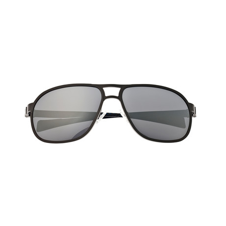 Concorde Sunglasses // Titanium // Gunmetal Frame + Silver Lens