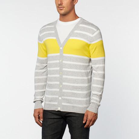 Loft 604 // Pure Cotton Lightweight Stripes Cardigan // Oxford (S)