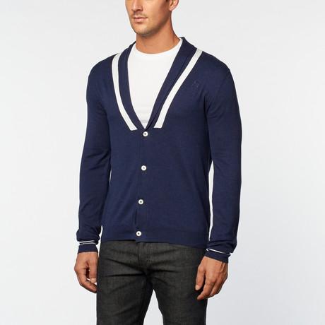 Loft 604 // Pure Cotton Lightweight Cardigan // Navy (S)