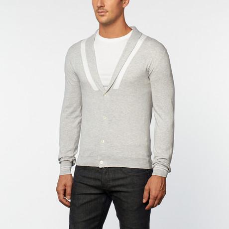 Loft 604 // Pure Cotton Shawl Collar Cardigan // Oxford (S)