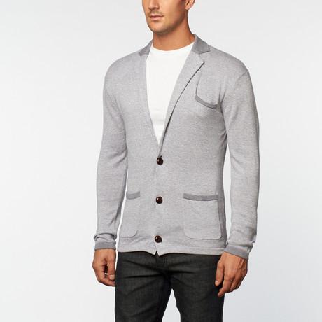 Loft 604 // Cashmere Cotton Contrast Lapel Blazer // Grey Melange