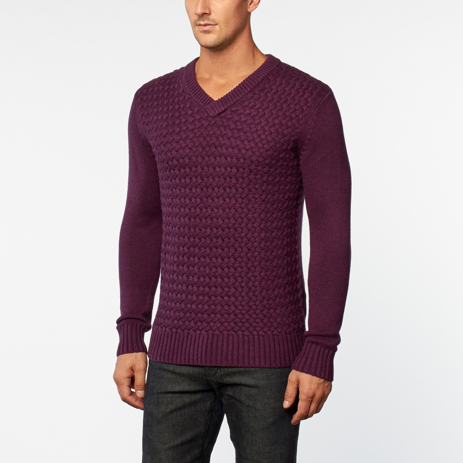 Cashmere Sweater // Wine (S) - loft 604 - Touch of Modern