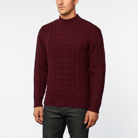 Loft 604 // Australian Merino Wool Cowl Neck Pullover // Wine