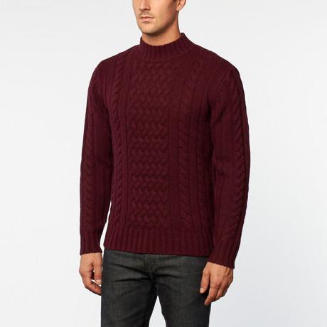 Loft 604 // Australian Merino Wool Cowl Neck Pullover // Wine (S)