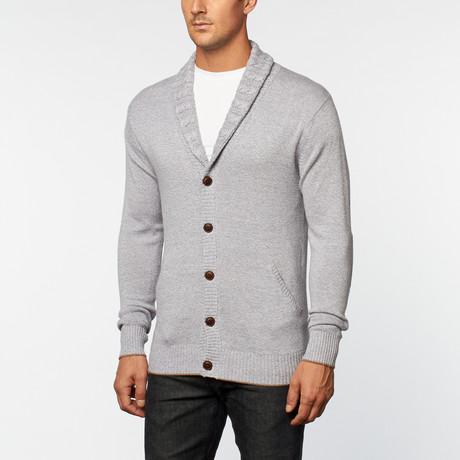 Loft 604 // Cashmere Cotton Shawl Collar Cardigan // Grey Melange