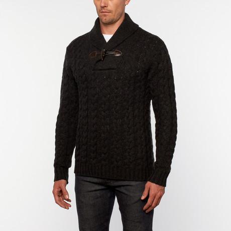 Loft 604 // Cashmere Shawl Collar Pullover // Charcoal (S)