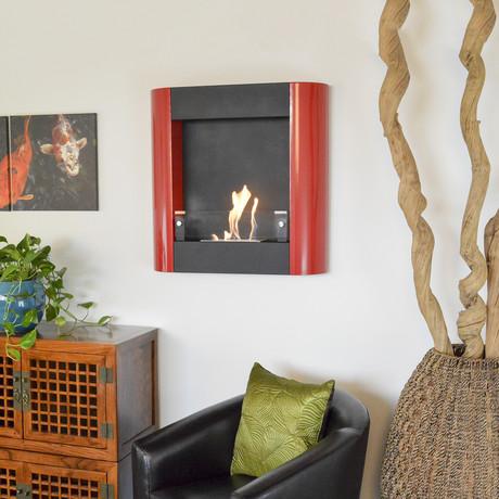 Focolare Muro // Rosso