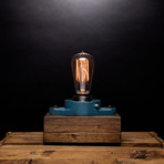 Cast Iron Industrial // Rectangular Lamp