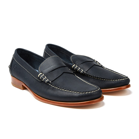 James Loafer // Navy Perforated