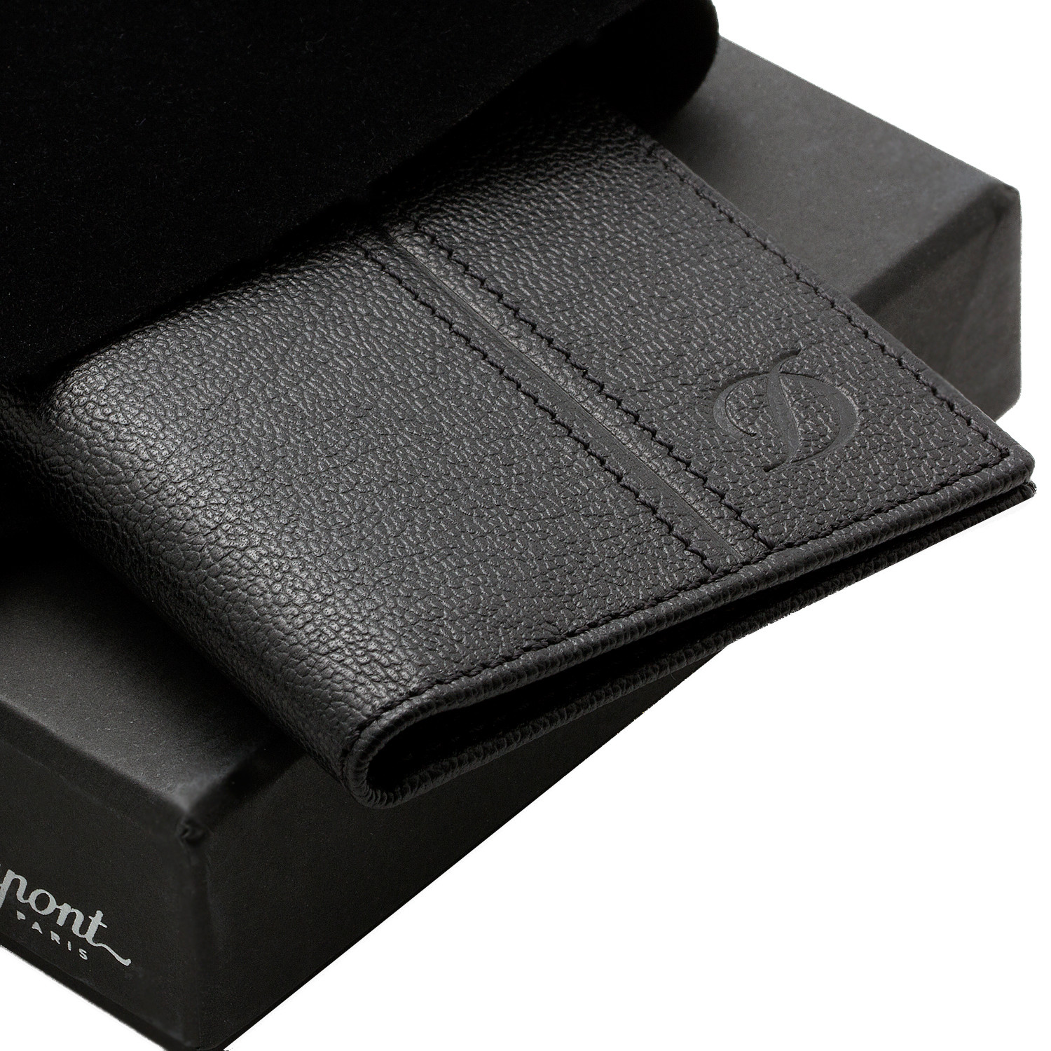 leather business card holder  st dupont  touch of modern