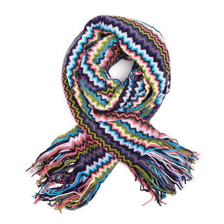 Missoni Knit Scarf // Multi Stripe