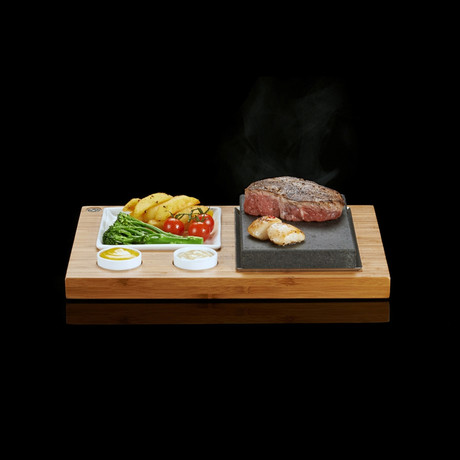 The SteakStones Steak + Sides + Sauces Set