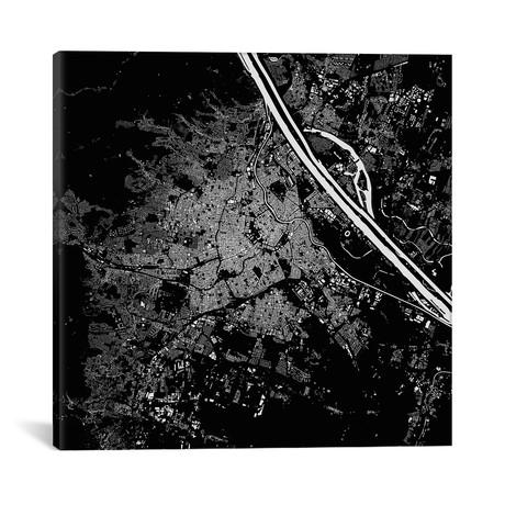 """Vienna Urban Map // Black (18""""L x 18''W)"""