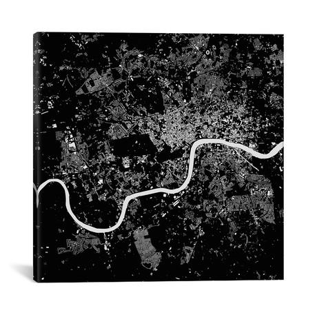 "London Urban Map // Black (18""L x 18''W)"
