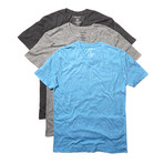 Threadfast Apparel // College Point Triblend V-Neck // Charcoal + Black + Royal // Pack of 3 (2XL)