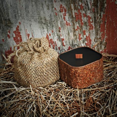 Bunkhouse // Barnwood + Apple + Leather