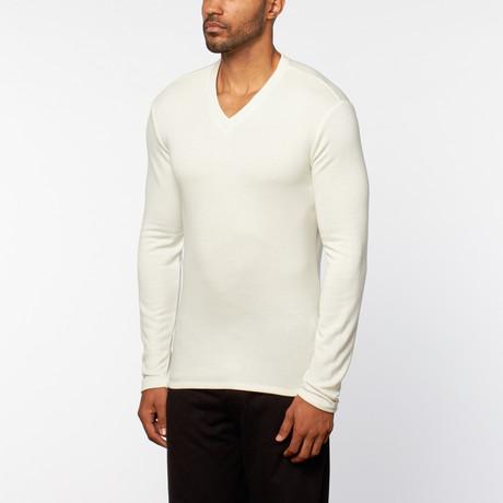Chris V-Neck Top // White (S)