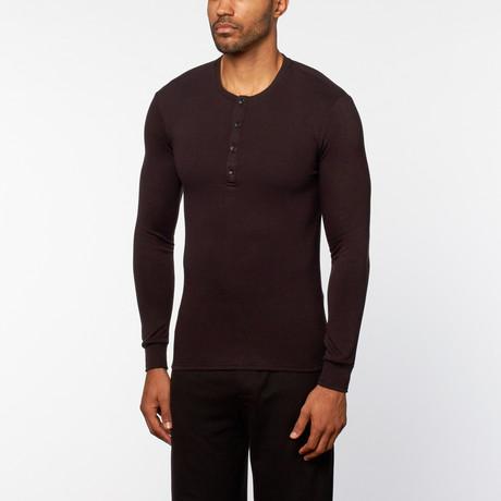 Mason 4-Button Henley // Black (S)