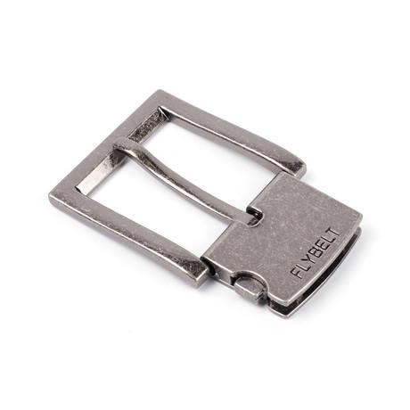 40mm Large Edged Flybelt Buckle // Antique Nickel