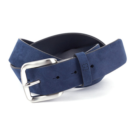 """Casual Suede Leather Flybelt // Navy (32"""" Waist)"""