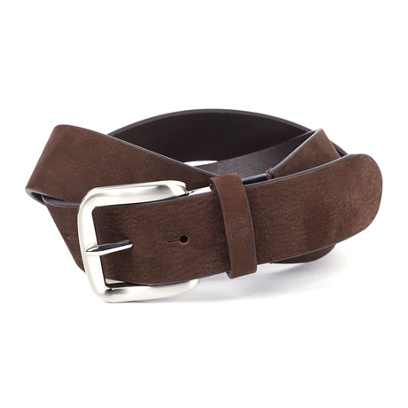 """Casual Suede Leather Flybelt // Brown (32"""" Waist)"""