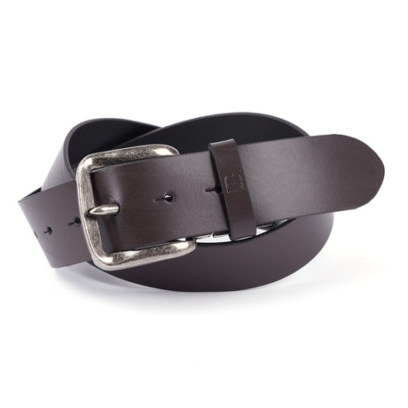 """Casual Polished Leather Flybelt // Brown (32"""" Waist)"""
