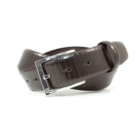 """Reptile Grain Leather Flybelt // Brown (32"""" Waist)"""