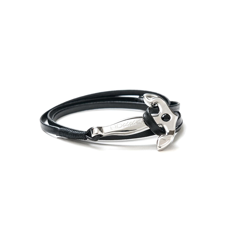 4992af1a982b9 Anchor Bracelet // Black Strap (Rose Gold Anchor) - Zorrata - Touch ...
