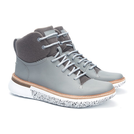 Freddy Leather + Wool Boot // Alloy + Grey