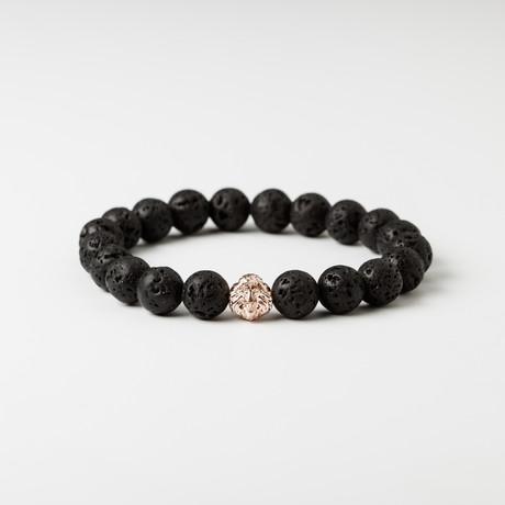 Hoofd van de leeuw Lavastone Bracelet