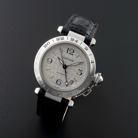 Cartier Pasha GMT Automatic // // 32.166 c.1990's // Pre-Owned