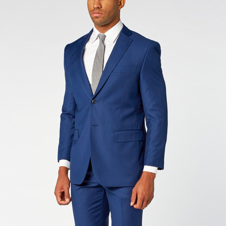 Fellini // Single breasted Classic Suit // London Blue