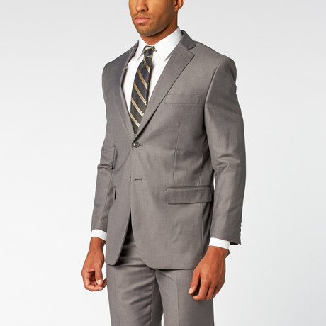 Fellini // Single breasted Classic Suit // Grey