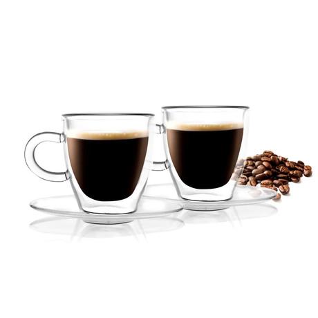 Amo Espresso Cup + Saucer // Set of 4