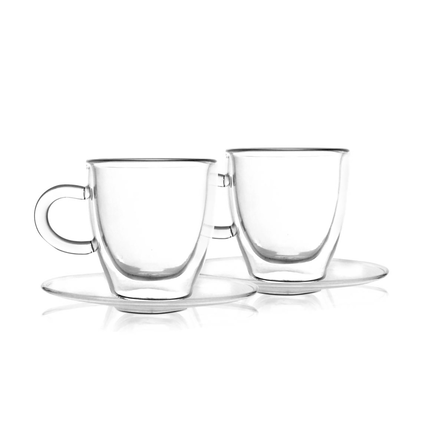 amo espresso cup saucer set of 4 vialli touch of modern. Black Bedroom Furniture Sets. Home Design Ideas