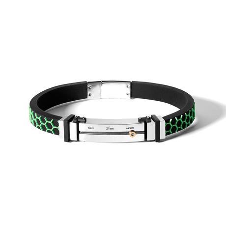 Marathon Bracelet // Groen Patroon