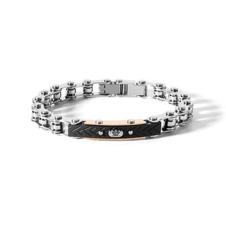 8 Cylinder Bracelet // Steel