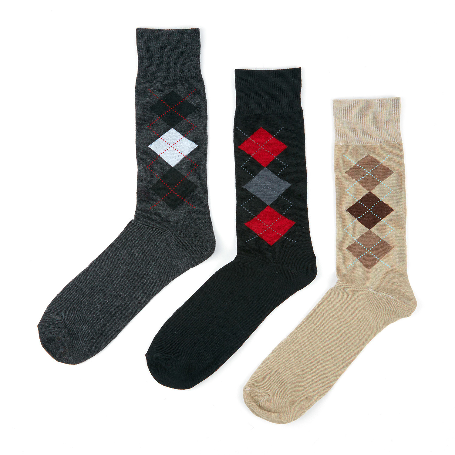 Argyle dress socks pack of 3 socks with style touch of modern