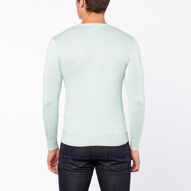 Bresciani // Vee Neck Cashmere Sweater // Powder Blue (S) - Silk ...