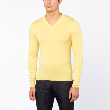 Bresciani // Vee Neck Trui // Yellow