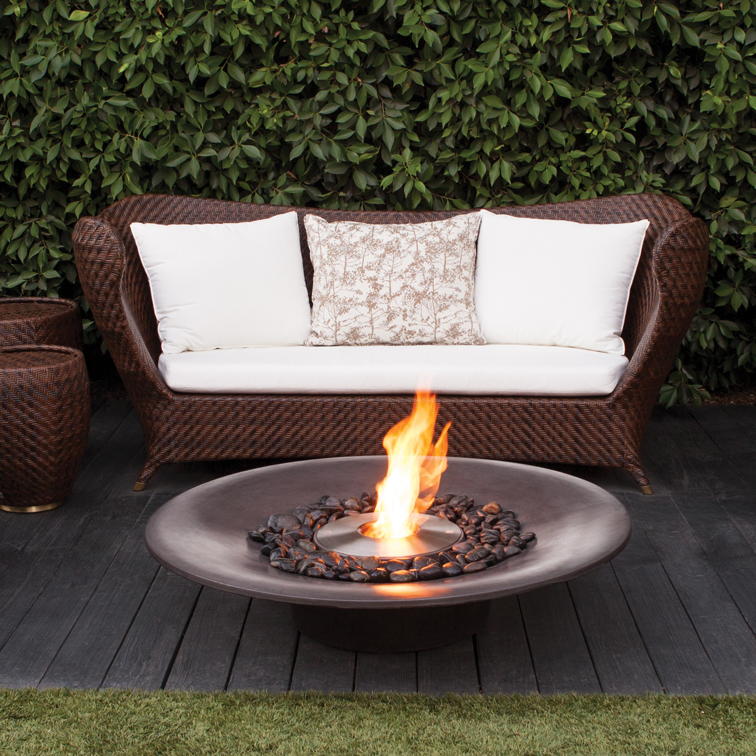 Brown Jordan Fires Cloud Fire Pit Natural Gray Eco
