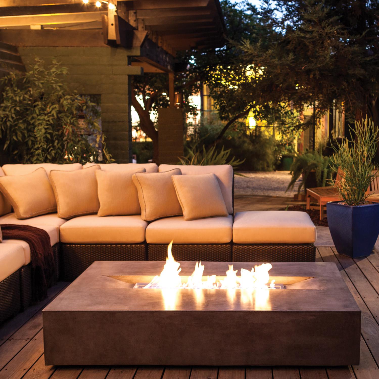 Brown jordan fires flo fire pit coffee table natural for Brown jordan fire pit